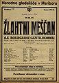 Plakat za predstavo Žlahtni meščan v Narodnem gledališču v Mariboru 24. januarja 1926.jpg