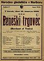 Plakat za predstavo Beneški trgovec v Narodnem gledališču v Mariboru 16. marca 1926.jpg