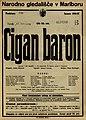 Plakat za predstavo Cigan baron v Narodnem gledališču v Mariboru 15. februarja 1927.jpg