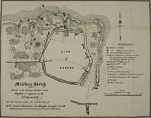 Battle of Tzeki - Map of the operations in Tzeki