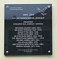 Plaque to the 130 years od Sokół Sanok (2019).jpg
