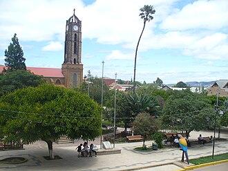 Vallegrande - Image: Plaza Principal de la ciudad de Vallegrande (Santa Cruz Bolivia)