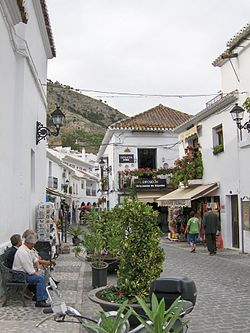 Skyline of Mijas