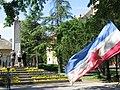Polaganje venaca na spomenik palim borcima NORa u Vrbasu na Dan pobede 2016.godine.jpg