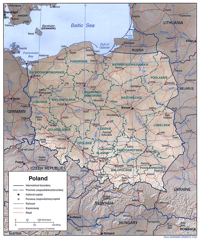 Capital Of Poland Map.Outline Of Poland Wikiwand
