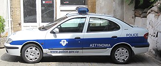 Cyprus Police - Image: Police car Cyprus 01