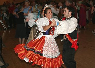 Czech Texans - Dancers at the National Polka Festival in Ennis, TX