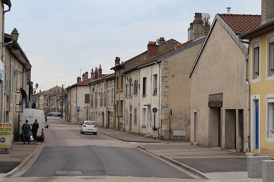 """Pont-à-Mousson, the street """"Rue du Camp"""""""