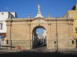 Galatone - Porta San Sebastiano, built in 1748, is the main gate to the old town.