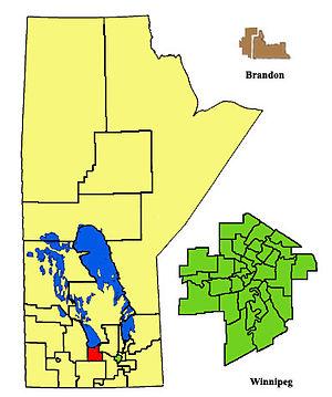 Portage la Prairie (provincial electoral district) - Image: Portagela Prairie ED2011