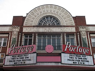 Portage Park, Chicago - Portage Theater marquee in 2007