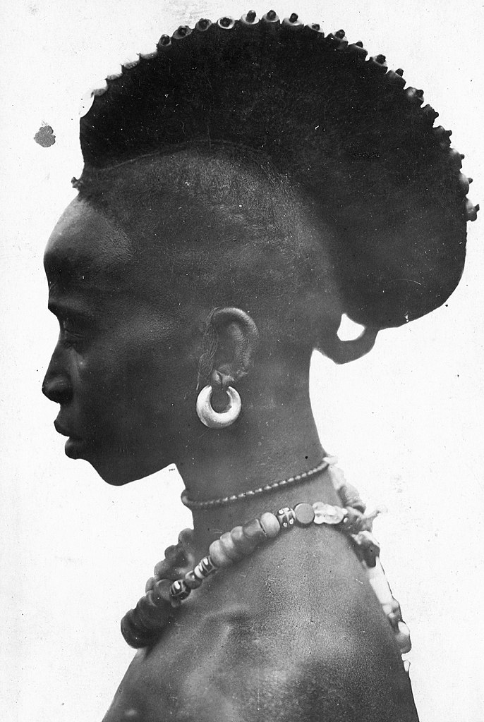 File Portrait African Native Tribes Woman African