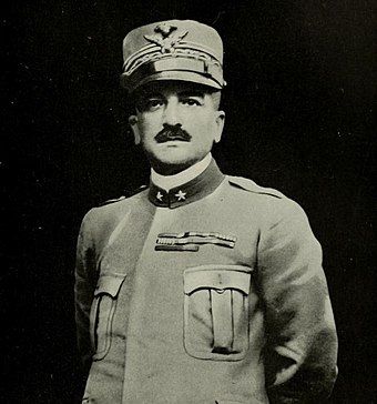 Armando Diaz, Chief of Staff of the Italian Army since November 1917, halted the Austro-Hungarian advance along the Piave River and launched counter-offensives which led to a decisive victory on the Italian Front. He is celebrated as one of the greatest generals of World War I.[82]