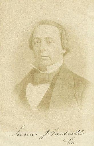 Lucius Jeremiah Gartrell - Lucius J. Gartrell, circa 1858