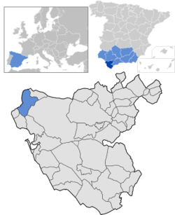 Location of Sanlúcar de Barrameda