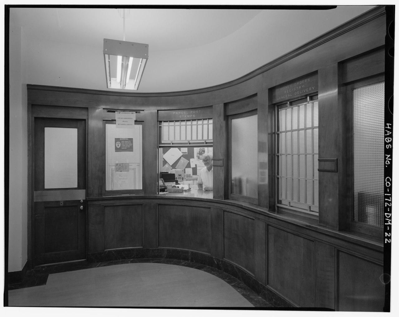 Ground Floor Window : File post office window lobby ground floor fitzsimons