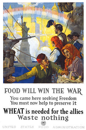 """Food and Fuel Control Act - """"Food will win the war"""" United States Food Administration poster"""