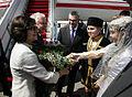 Powitanie Pary Prezydenckiej na lotnisku im. Hejdara Alijewa w Baku.jpg