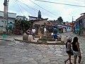 Pracinha com estátua de São (Santo) Tomé ; Em São Tomé das Letras MG.jpg