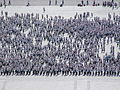 Practising a torch march on Kim il-sung square 09.JPG