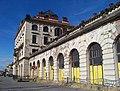 Praha hlavní nádraží, Fantova budova, z Wilsonovy, severní křídlo.jpg
