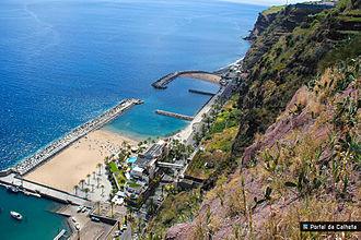 Calheta, Madeira - Calheta Beach view from the top
