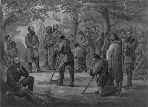 Prayer in Stonewall Jackson's camp