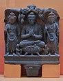 Preaching Buddha Flanked by Avalokitesvara and Maitreya - Schist - ca 2nd Century CE - Gandhara - Loriyan Tangai - ACCN 5093 - Indian Museum - Kolkata 2016-03-06 1511.JPG