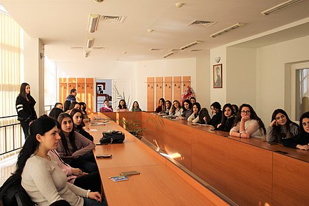 Presentation about WMAM projects at Yerevan Brusov State University of Languages and Social Sciences 04.jpg