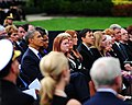 President Barack Obama attends a memorial service at the Marine Barracks, (9886258935).jpg