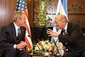 President George W. Bush and Israel's Prime Minister Ehud Olmert.jpg