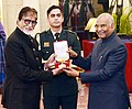 President Ramnath Kovind conferring Dada Saheb Phalke award on Shri Amitabh Bachchan3.jpg