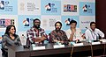 """Press conference by the Director, Madhupa, Actress Mallika Film """"Ozhimuri"""" and Nirmal Chander, Director of the Film """"Dreaming Taj Mahal"""", at the 43rd International Film Festival of India (IFFI-2012), in Panaji, Goa.jpg"""
