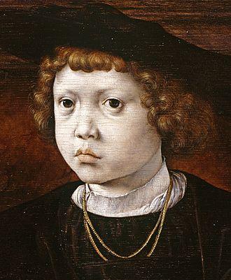 John of Denmark (1518–1532) - Portrait by Jan Mabuse, 1526.