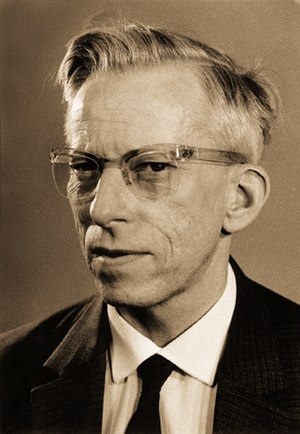 Cat eye glasses - Dr. Otto Wichterle wearing cat eye glasses.