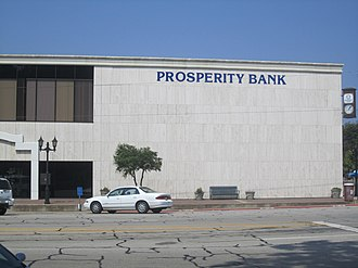 Athens, Texas - Prosperity Bank in downtown Athens