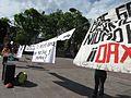 Protesta en favor de los profesores de Oaxaca, en la plaza principal de Aguascalientes (junio, 2016) 37.jpg