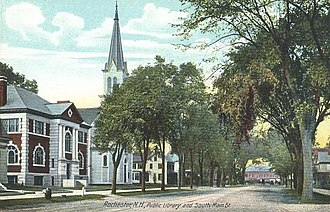 Rochester, New Hampshire - Image: Public Library & South Main St., Rochester, NH