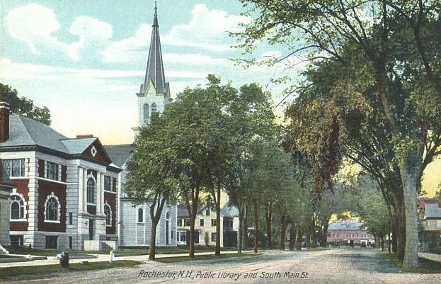 Public Library & South Main St., Rochester, NH