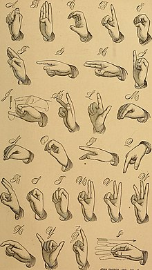 the american manual alphabet an example of letters in fingerspelling