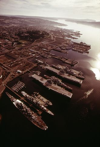 Naval Inactive Ship Maintenance Facility - The mothball fleet at Bremerton, Washington, in 1974.