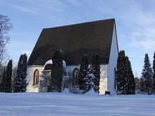 Pyhtää church in winter.JPG
