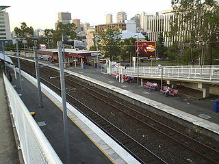 South Bank railway station, Brisbane railway station in Brisbane, Queensland, Australia