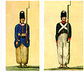 Qajar soldier in the earliest uniform (1808) and of the French sample (1810).jpg