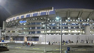 Holy Roller (American football) - Image: Qualcomm Stadium after 2009 Poinsettia Bowl