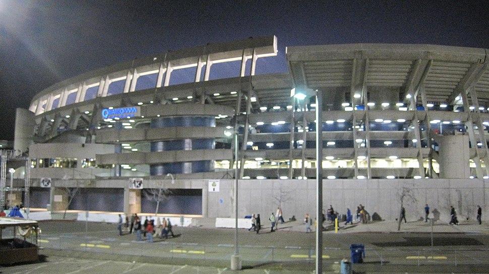 Qualcomm Stadium after 2009 Poinsettia Bowl