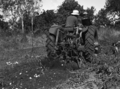 Queensland State Archives 1677 Potato digger harvesting Sebago potato crop 100120 bags to acre c1951.png