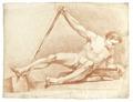 Rödkriteteckning på naken man, 1760-tal - Skoklosters slott - 99363.tif