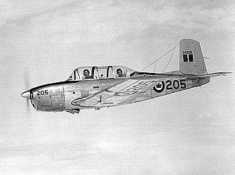 Lynn Garrison - RCAF MENTOR 205 over RCAF Station Penhold, Alberta August 12, 1954