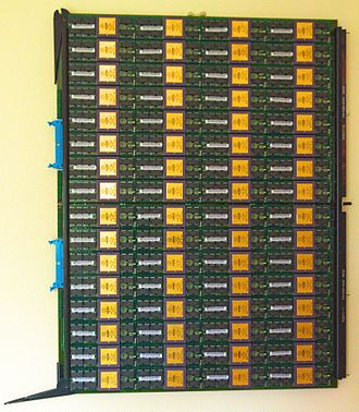 NCUBE - nCUBE 2 circuit board with 64 processors and memory